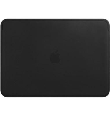 Apple Laptoptasche Lederhülle Leder schwarz