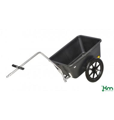 Karren schwarz bis 150 kg 2 unplattbare Reifen 1550x680x540mm KM07330