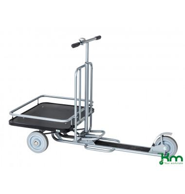 Scooter Roller grau bis 200 kg Unplattbare Räder KM07350