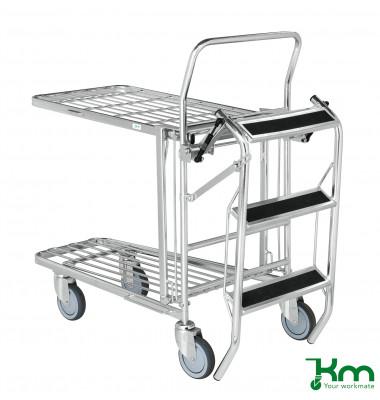 Zubehör - Gitterwagen elektrolytisch verzinkt bis 125 kg  540x480x670mm KM07401-4202
