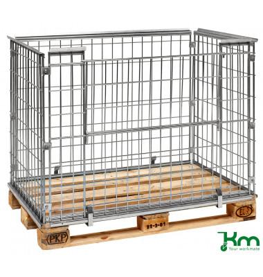 Palettenrahmen & Palettencontainer verzinkt bis  kg  1220x820x870mm KM080085