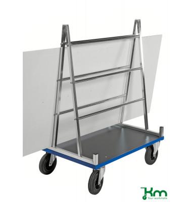 Plattenwagen elektrolytisch verzinkt bis 500 kg 2 Lenk- und 2 Bockrollen  1000x700x1380mm KM08400