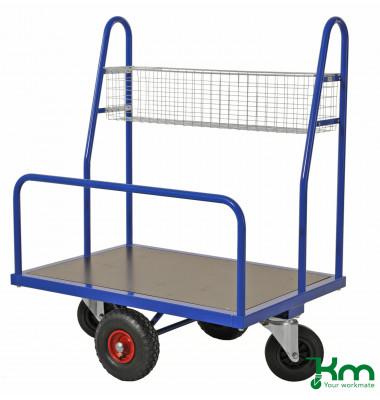 Baustellenwagen blau bis 500 kg 2 Lenk- und 2 Bockrollen  1000x700x1250mm KM08425