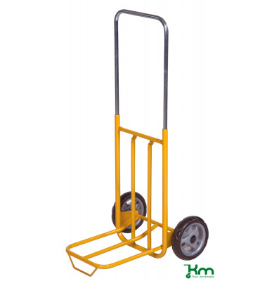 Karren gelb bis 50 kg Gummiräder 180 mm 500x420x1000mm KM100