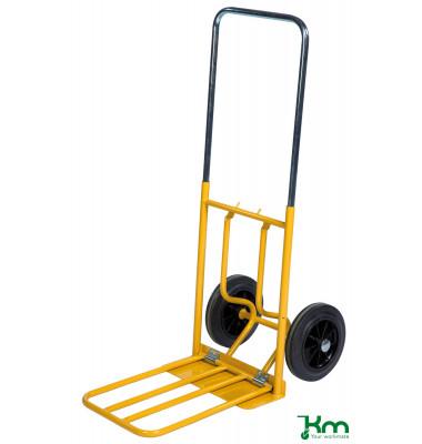 Karren gelb bis 150 kg Vollgummiräder 250 mm 800x430x1150mm KM101