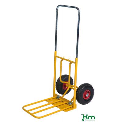 Karren gelb bis 150 kg Unplattbare Räder 800x430x1150mm KM102PF