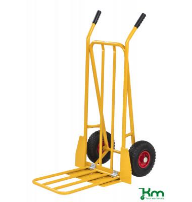 Karren gelb bis 250 kg Luftbereift 260 mm 780x555x1110mm KM104