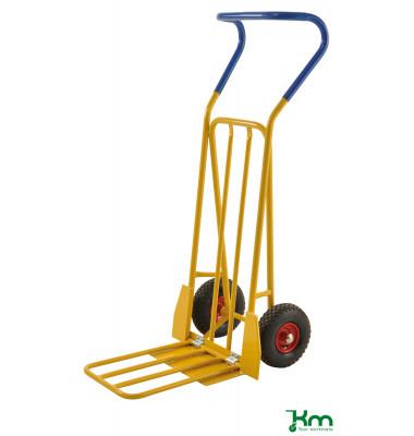 Karren gelb bis 250 kg 2 Bockrollen 780x560x1320mm KM104-H