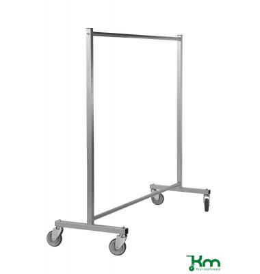 Bürowagen grau bis 150 kg 4 Lenkrollen 1700x600x1690mm KM113700