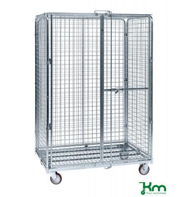 Rollcontainer verzinkt bis 600 kg 2 Lenk- und 2 Bockrollen  1200x800x1870mm KM120510B