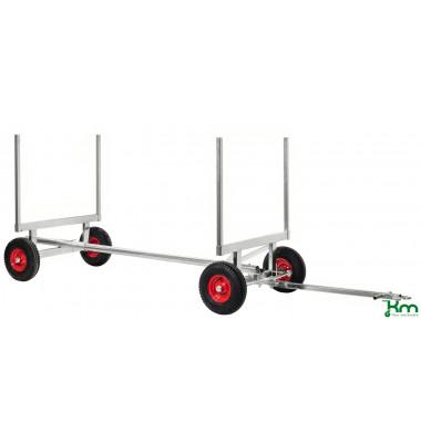Langgutwagen verzinkt bis 2500 kg 4 Bockrollen 3000x1270x600mm KM123-E