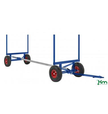 Langgutwagen blau bis 3500 kg 4 Bockrollen 6000x1270x640mm KM126