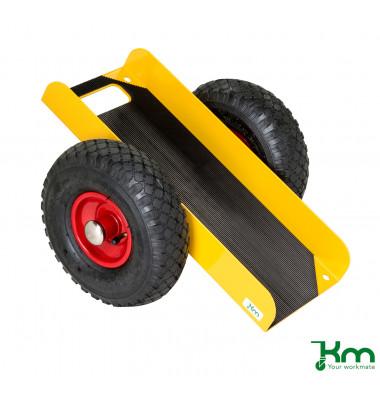 Plattenwagen gelb bis 200 kg Luftbereift 260 mm 490x380x260mm KM142650