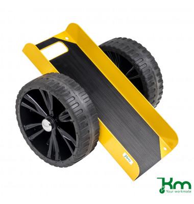 Plattenwagen gelb bis 200 kg Unplattbare Räder 490x380x260mm KM142650PL