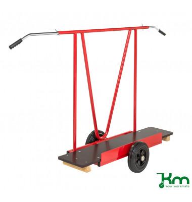 Plattenwagen rot bis 200 kg Vollgummiräder 250 mm 1707x540x1122mm KM142654-R