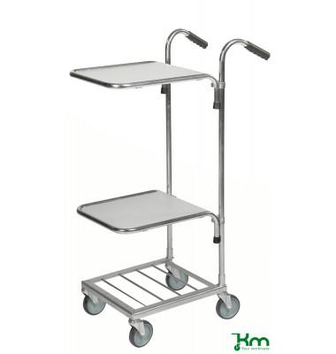 Bürowagen verzinkt bis 35 kg 4 Lenkrollen 660x385x1090mm KM153-HH