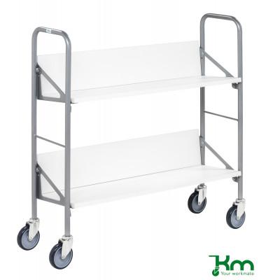 Bürowagen grau bis 50 kg 4 Lenkrollen 900x300x920mm KM157