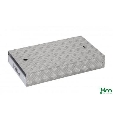 Arbeitsplattform grau bis 150 kg 4 Lenkrollen 600x351x180mm KM1688-E