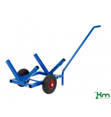 Langgutwagen blau bis 200 kg 2 Bockrollen 1600x600x750mm KM215