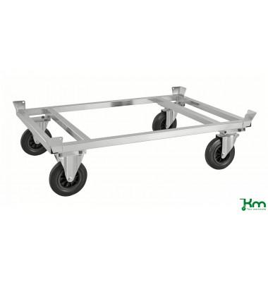 Palettenwagen verzinkt bis 800 kg 2 Bockrollen 2 Lenkrollen 1246x846x355mm KM217-EP