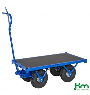 Schwerlastwagen blau bis 1300 kg 4 Bockrollen 1200x690x397mm KM330120