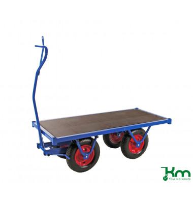 Schwerlastwagen blau bis 1500 kg 4 Bockrollen 1500x700x460mm KM330150