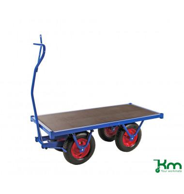 Schwerlastwagen blau bis 1000 kg 4 Bockrollen 1500x700x460mm KM330150PF