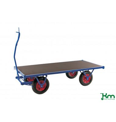 Schwerlastwagen blau bis 1500 kg 4 Bockrollen 2000x1000x460mm KM330200