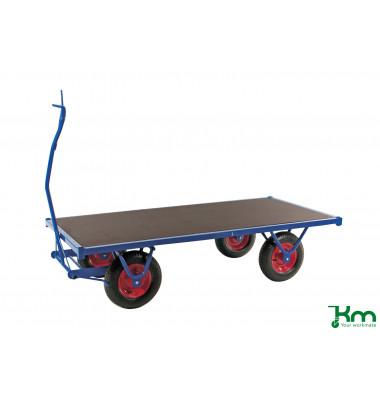 Schwerlastwagen blau bis 1000 kg 4 Bockrollen 3000x1000x490mm KM330300PF