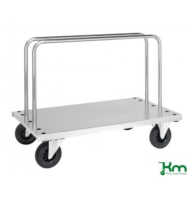 Scheibenwagen verzinkt bis 500 kg 2 Bockrollen 2 Lenkrollen 1250x700x945mm KM439