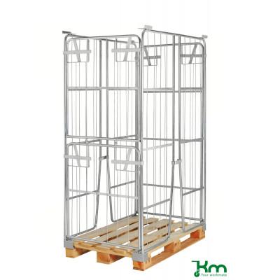 Palettenrahmen & Palettencontainer verzinkt bis  kg  1200x800x1800mm KM901800-K