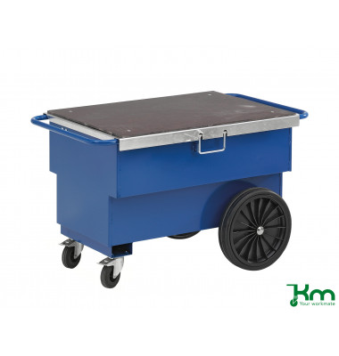 Baustellenwagen blau bis 400 kg 2 Lenk- und 2 Bockrollen  1260x760x720mm KM9199