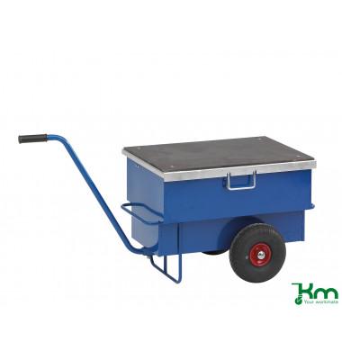 Baustellenwagen blau bis 250 kg Unplattbare Räder 940x620x610mm KM9202PF