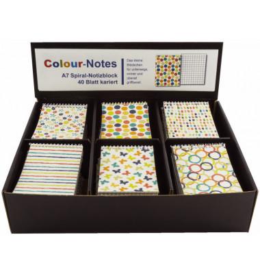 Spiralnotizblock A7 Colour Notes 60720 sortiert