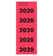 Jahreszahlen 2020 rot 57x28mm selbstklebend 100 Stück
