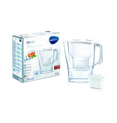 Wasserfilter Aluna, Gefiltertes Wasser: 1,4 l, Gesamt: 2,4 l, weiß