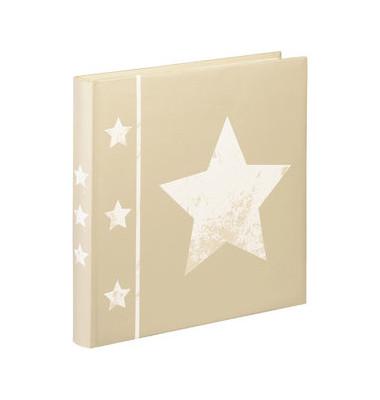 Fotoalbum, Skies, Jumbo, Karton, weiß, 30 x 30 cm, beige, 30 Blatt