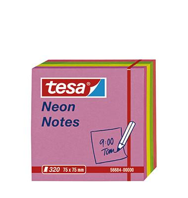 NEON NOTES 320 BL.,PINK/GELB/GRÜN/ORANGE