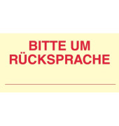 Haftnotiz 70 x 35 mm (B x H) Bitte um Rücksprache gelb 50 Bl./Block 3 Block/Pack.