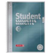 Collegeblock Student Premium DIN A4 liniert/kariert 90g/m² petrol metallic 80 Bl.