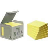 Haftnotiz Recycling Notes 76 x 76 mm (B x H) gelb 100 Bl./Block 6 Block/Pack.