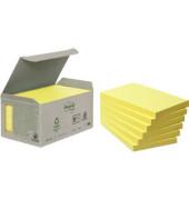 Haftnotiz Recycling Notes 127 x 76 mm (B x H) gelb 100 Bl./Block 6 Block/Pack.