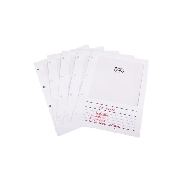 ELCO Sichtmappe Ordo Vista DIN A4 120g/m˛ Papier weiß 100 St./Pack.