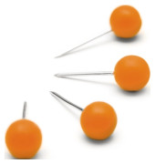Pinnwandnadel 6 x 13 mm (Ø x L) Kunststoff orange 100 St./Pack.
