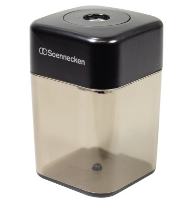 Dosenspitzer 8mm Kunststoff schwarz/grau transparent