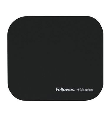 Mauspad Microban® 22,6 x 0,3 x 19,2 cm (B x H x T) nicht antistatisch ohne Handgelenkauflage Gummi schwarz