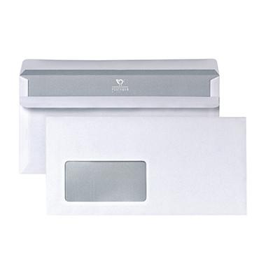 Briefumschlag DIN lang 220 x 110 mm (B x H) mit Fenster 75g/m² mit Selbstklebung Papier weiß