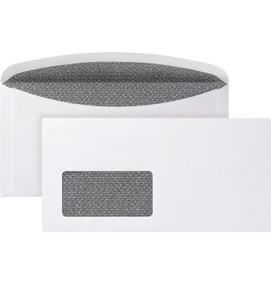 Briefumschlag 3000 DIN C6/5 mit Fenster 80g/m² mit gummierter Klappe Papier weiß