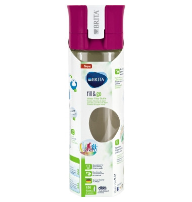 Filterkaraffe fill&go Vital 0,6l Kunststoff pink