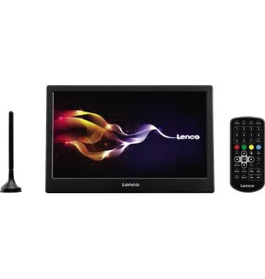 "Fernseher TFT-1038 (10"") 1.024 x 600 Pixel A 3,5 mm Klinkenbuchse, AV, Antenne Akku, Netzbetrieb"